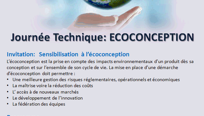 Journée Technique ECOCONCEPTION